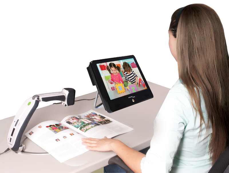 Classroom Design Tips For Visually Impaired ~ Portable monitor by enhanced vision