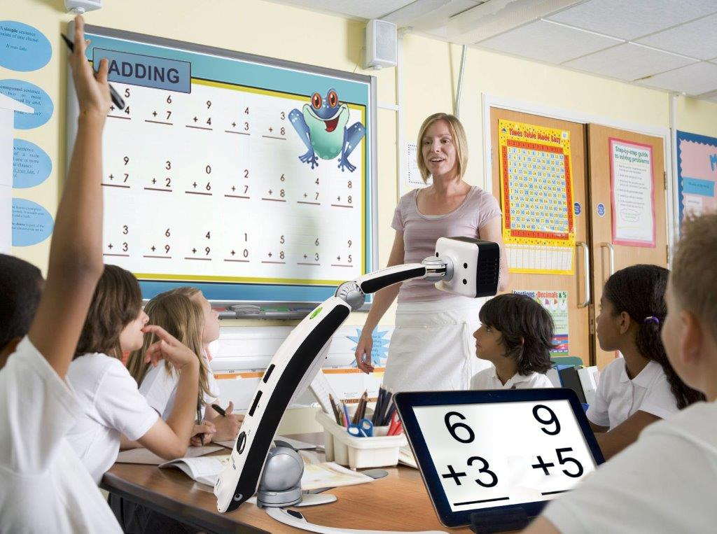 Uso de la lupa electrónica en un aula