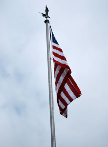 New flag on flagpole.