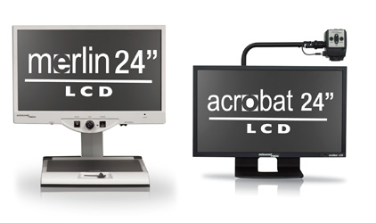 New 24 inch video magnifiers for low vision