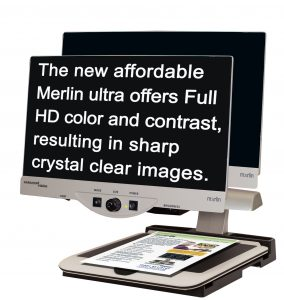 Merlin HD ultra desktop magnifier
